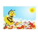 Stickers muraux enfant géant Abeille 15225