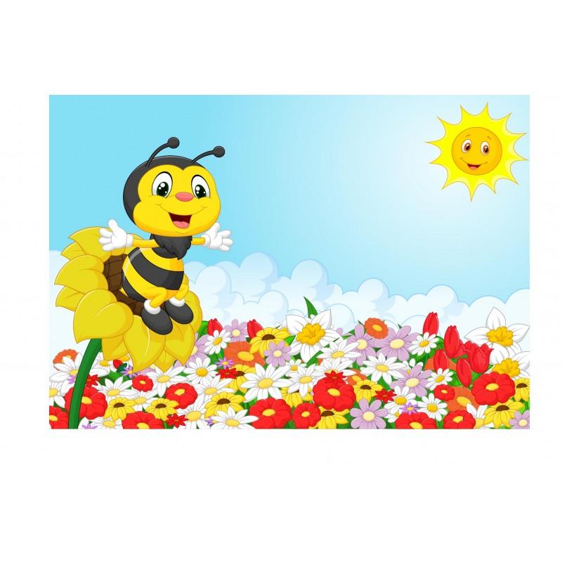 stickers muraux enfant g ant abeille 15225 stickers muraux enfant. Black Bedroom Furniture Sets. Home Design Ideas