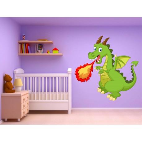 Stickers muraux enfant Dragon15228