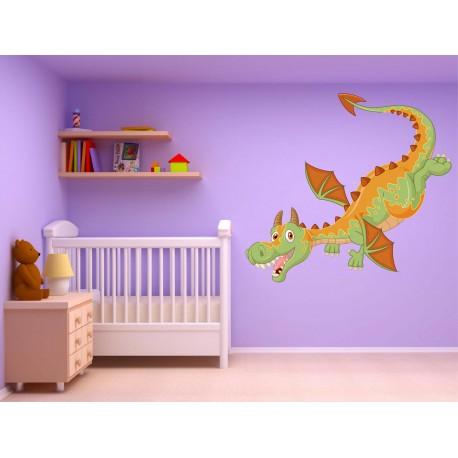 Stickers muraux enfant Dragon réf 15229