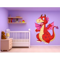 Stickers muraux enfant autocollant Dragon 15230