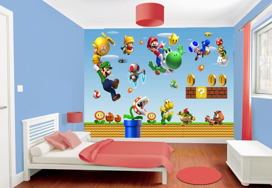 Stickers muraux géant Mario 15193 - Stickers Muraux Enfant