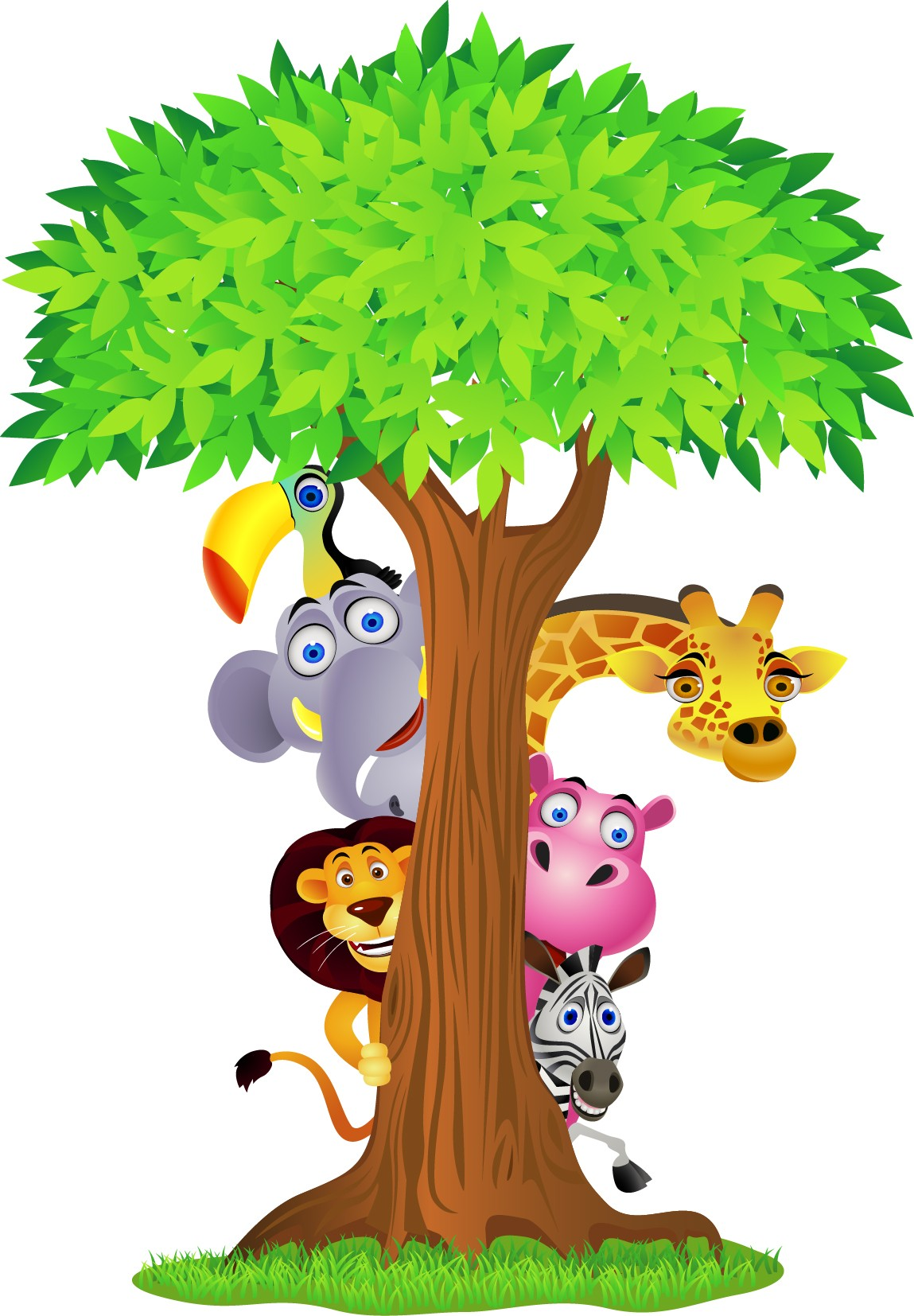 Stickers jungle et savane - Stickers Muraux Enfant