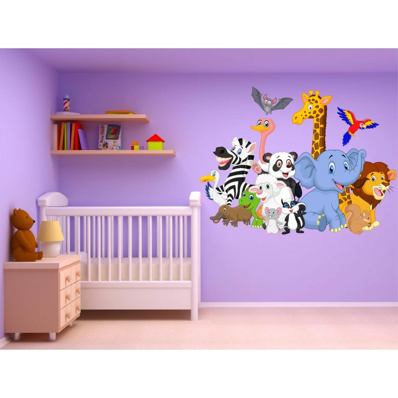 Stickers muraux enfant animaux r f 15237 stickers muraux enfant - Stickers muraux chambre enfant ...
