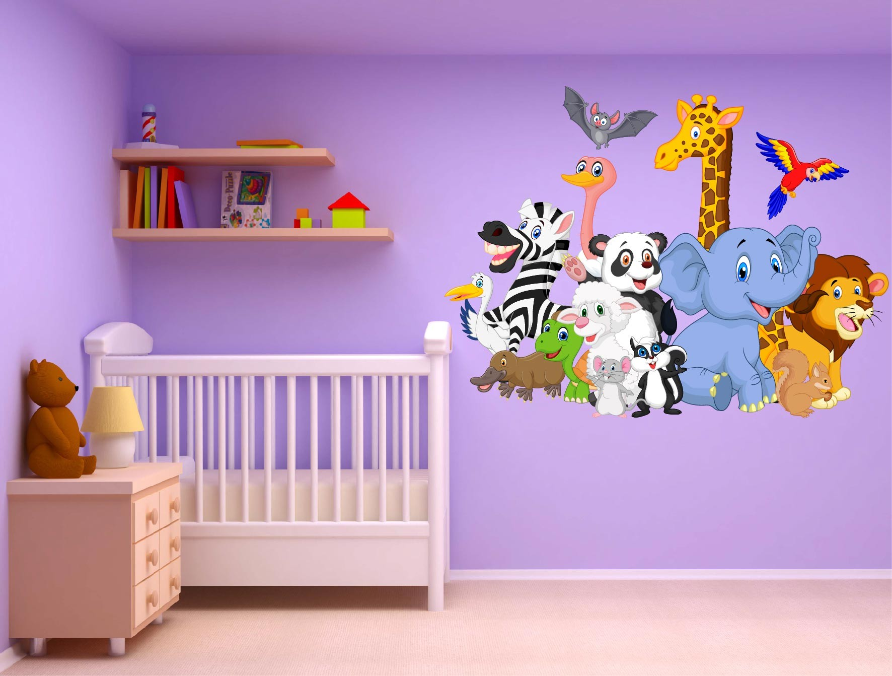 Stickers muraux bebe garcon maison design for Stickers animaux chambre bebe
