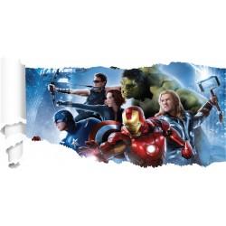 Stickers Avengers papier déchiré réf 19526