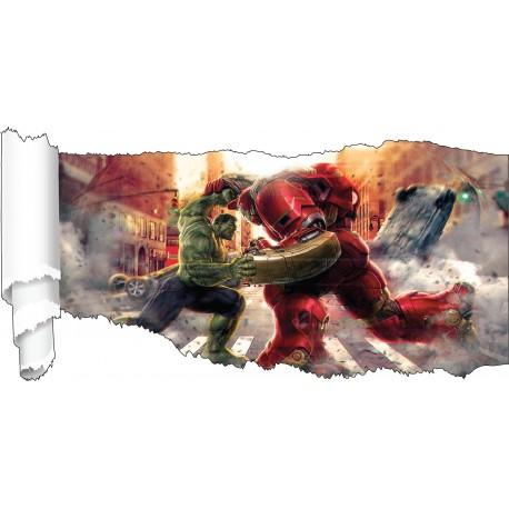 Stickers Avengers papier déchiré réf 19530