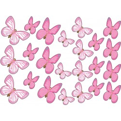 Stickers kit enfant planche de stickers Papillons ref 17538