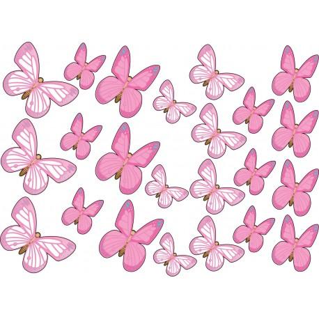 Stickers kit enfant planche de stickers Papillons ref 17538