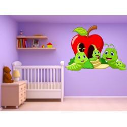 Stickers enfant Vers Pomme 17530