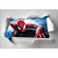 Stickers enfant papier déchiré Spiderman réf 7629