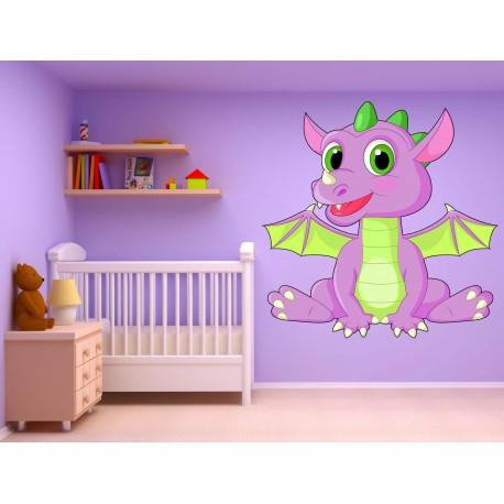 Stickers enfant bébé Dragon réf 17533