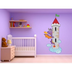 Stickers enfant Dragon Chateau 17534