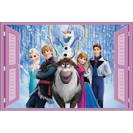 Sticker enfant fenêtre Frozen La Reine des Neiges