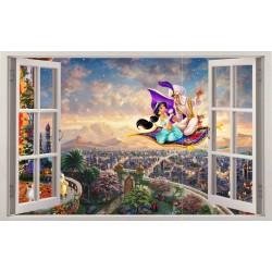 Stickers fenêtre Aladin réf 11120