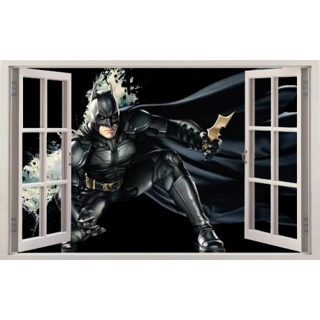 Stickers fenêtre Batman réf 11124