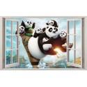 Stickers fenêtre Kun Fu Panda réf 11142
