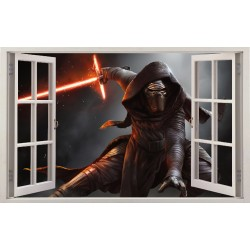 Stickers fenêtre Dark Vador Star Wars réf 11144