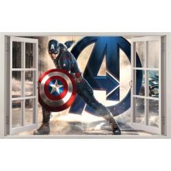 Stickers fenêtre Avengers Captain América réf 11130