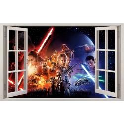 Stickers fenêtre Star Wars réf 11151