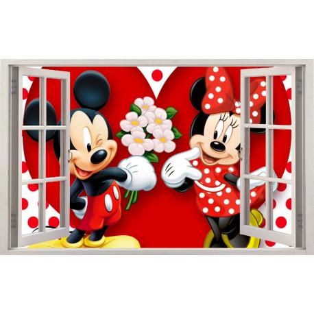 Stickers fenêtre Mickey Minie réf 11129