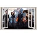 Stickers fenêtre Les 4 Fantastiques réf 11134