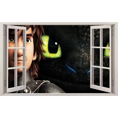 Stickers fenêtre Dragon réf 11138