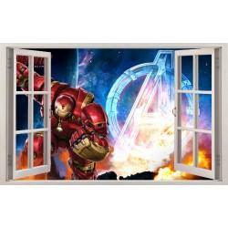 Stickers fenêtre Avengers Iron Man réf 11140