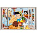 Stickers fenêtre Pinochio réf 11147