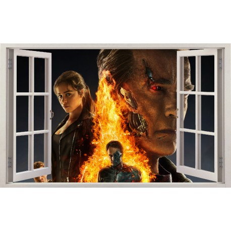 Stickers fenêtre Terminator réf 11157