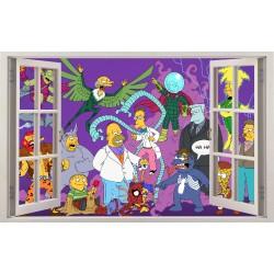 Stickers fenêtre Les Simpson réf 11160