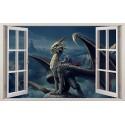 Stickers fenêtre Dragon réf 11201