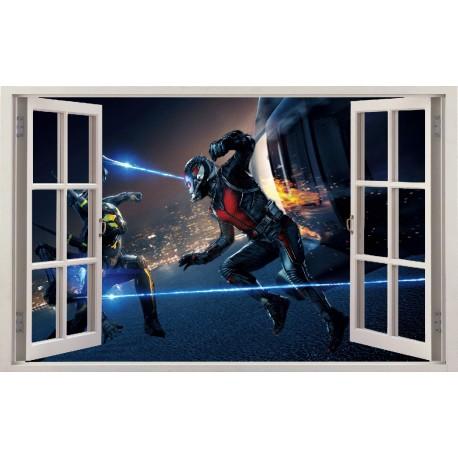 Stickers fenêtre Ant Man réf 11207