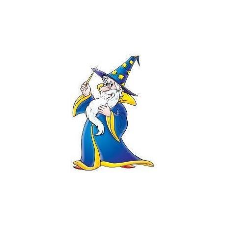 Sticker enfant Magicien 21x30cm