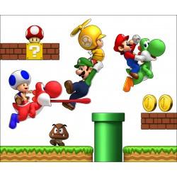 Stickers Mario galaxy et ses amis