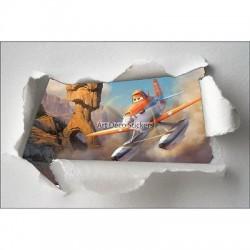 Stickers enfant papier déchiré Cars Planes réf 7627