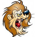 Sticker enfant Lion 26x30cm