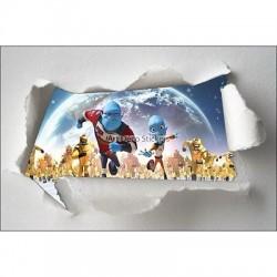 Stickers enfant papier déchiré Espace réf 7616