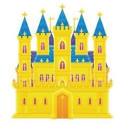 Sticker enfant Chateau 26x30cm