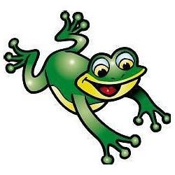 Sticker enfant Grenouille 30x25cm