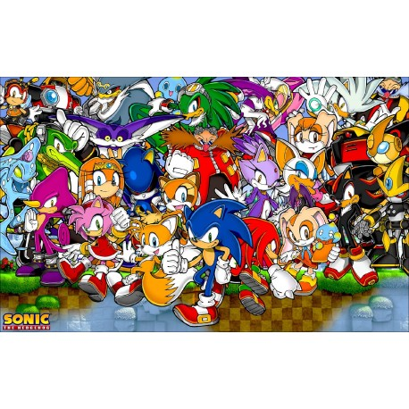 Sticker Autocollant Sonic réf 22559