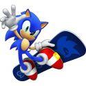 Stickers autocollant Sonic Skate réf 15103