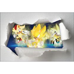 Stickers enfant papier déchiré Sonic réf 7619
