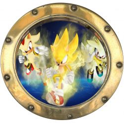 Sticker hublot enfant Sonic 9532