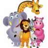 Sticker enfant animaux de la jungle 823