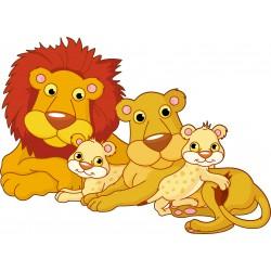 Sticker enfant famille Lion réf 915