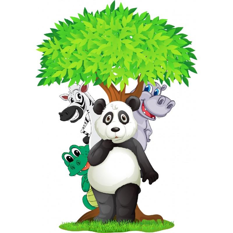 stickers animaux de la jungle 15046 stickers muraux enfant. Black Bedroom Furniture Sets. Home Design Ideas