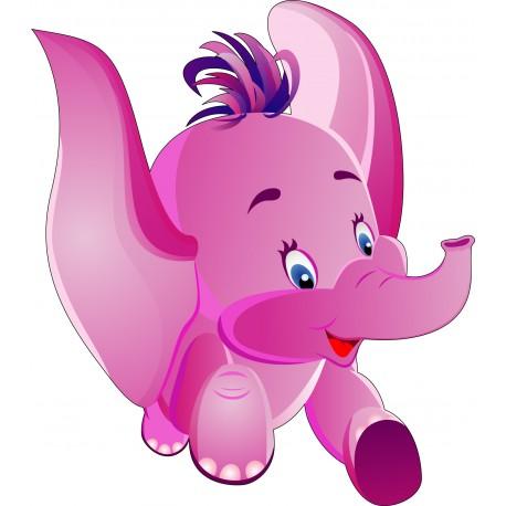 Sticker enfant Bébé Eléphant réf 914 Dimensions de 10 cm à 130cm de hauteur