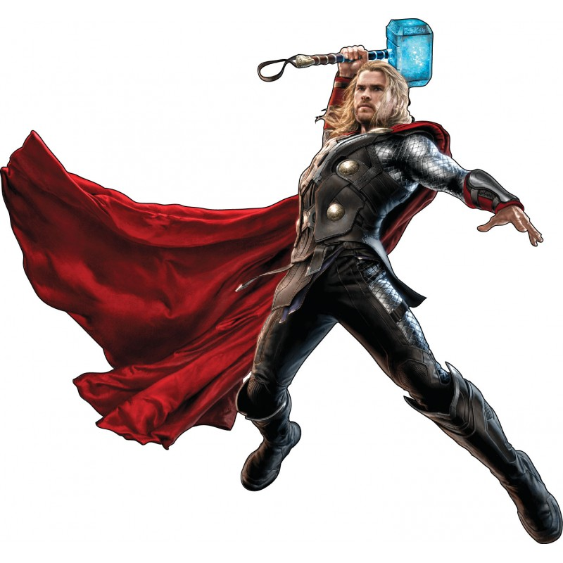 Stickers enfant thor avengers r f 15024 stickers muraux - Dessin anime avengers ...