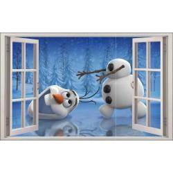 Sticker enfant fenêtre Olaf La reine des neiges réf 1059